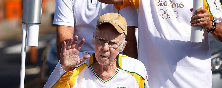 Zagallo recebe alta de hospital. (Divulgação/ Rio 2016)