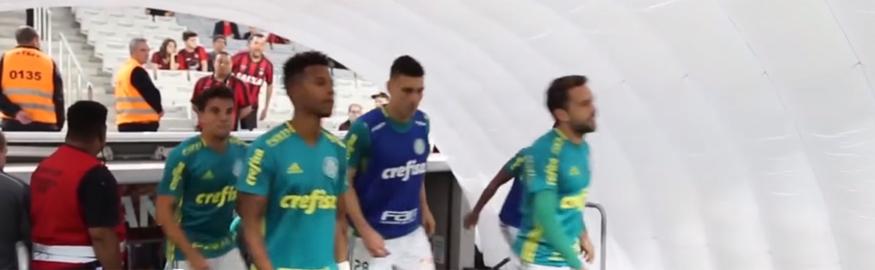Caso aconteceu durante a partida entre Atlético e Palmeiras. (Reprodução)