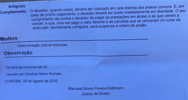 Decisão mostra que preso deveria estar em cela separada (Foto: Flávia Barros - Banda B)