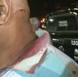 Militar ficou ferido ao ajudar a estudante (Foto: Ricardo Vieira)