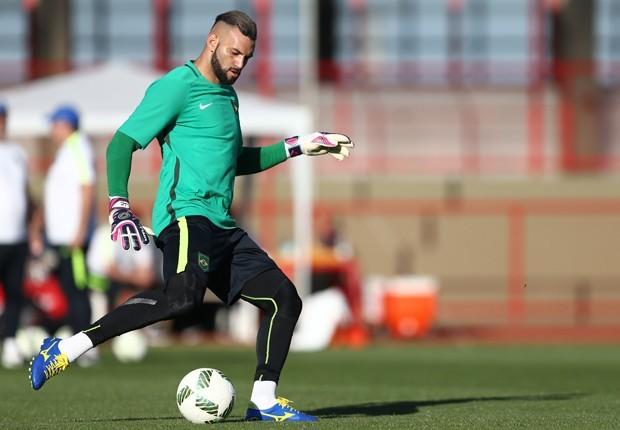 Weverton será o goleiro titular já na estreia da Olimpíada. (Lucas Figueiredo/MoWa Press/CBF)