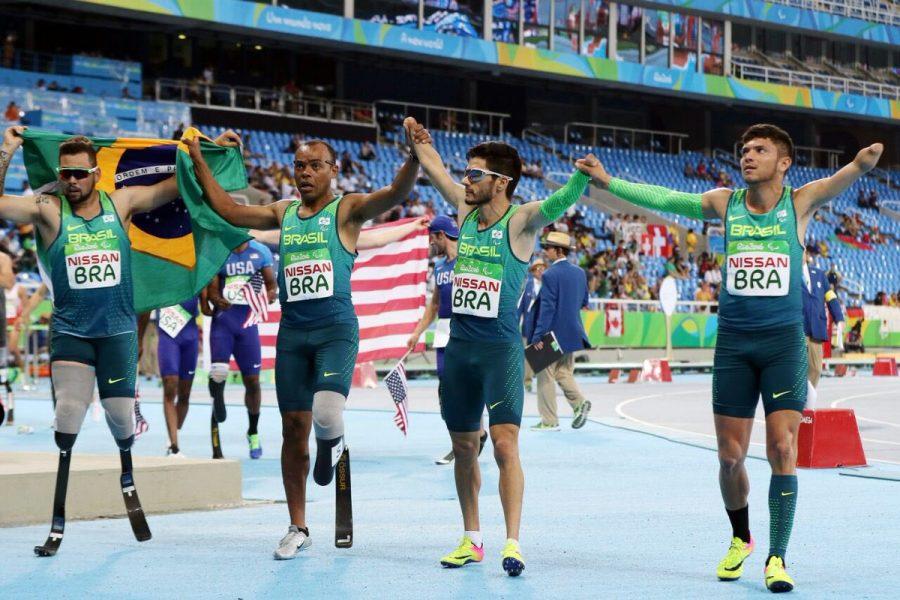 Revezamento do Brasil terminou em segundo lugar. (Francisco Medeiros/Brasil 2016)