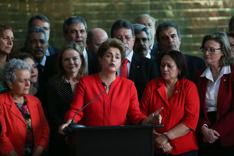 Brasília - Após o impeachment, a ex-presidenta Dilma Rousseff faz pronunciamento no Palácio da Alvorada. Ela disse ter sofrido o segundo golpe de Estado em sua vida (José Cruz/Agência Brasil)