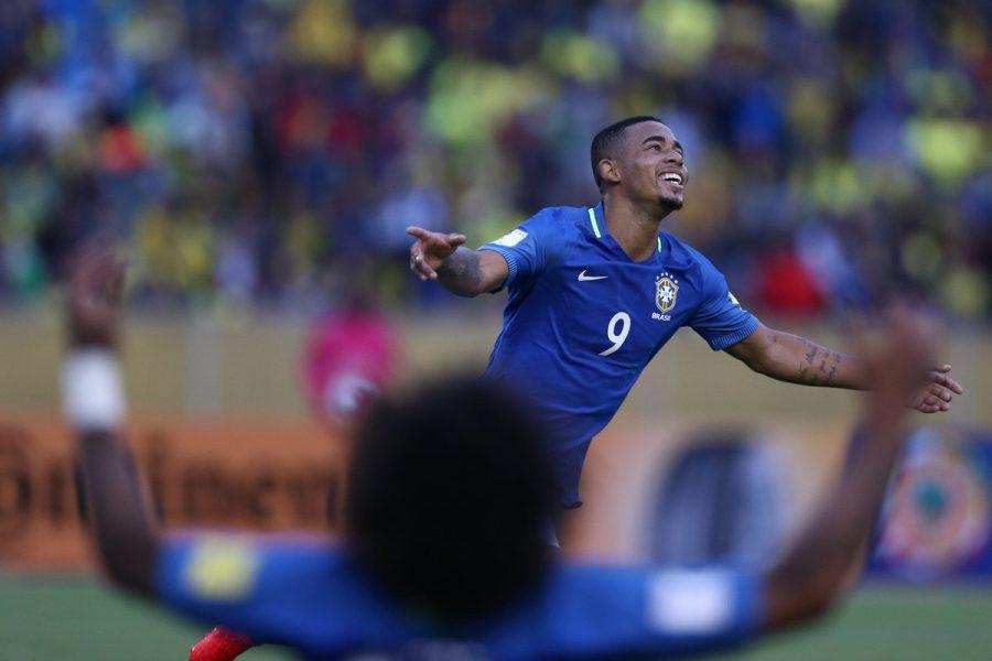 Gabriel Jesus marcou duas vezes na vitória brasileira. (Divulgação/CBF)