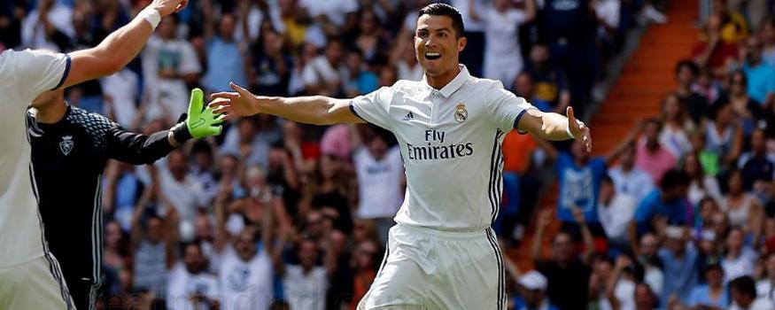 Ronaldo reencontra o Sporting. (Divulgação/ Real Madrid)