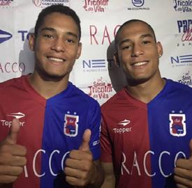 Irmãos Gabriel Furtado e Rafael Furtado, campeões no Sub-17, ficaram no banco de reservas contra o Ceará (Monique Vilela/Banda B)