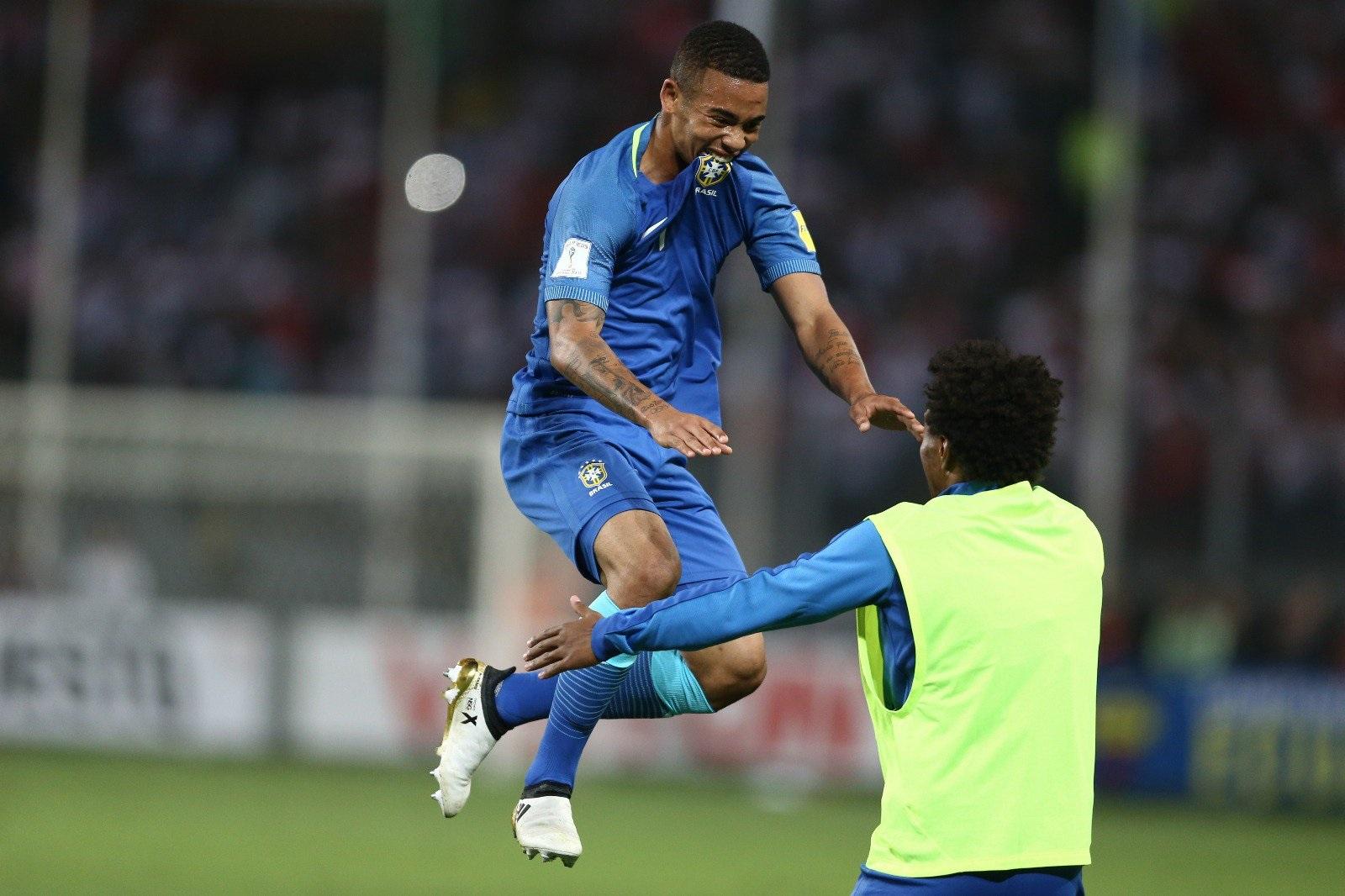 Gabriel Jesus marcou um gol e deu uma assistência na vitória por 2 a 0 sobre o Peru (Lucas Figueiredo/CBF)
