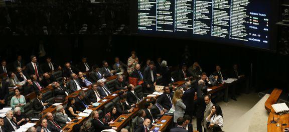 Brasília - Plenário da Câmara aprova texto base do projeto de lei que cria medidas contra a corrupção (Fabio Rodrigues Pozzebom/Agência Brasil)