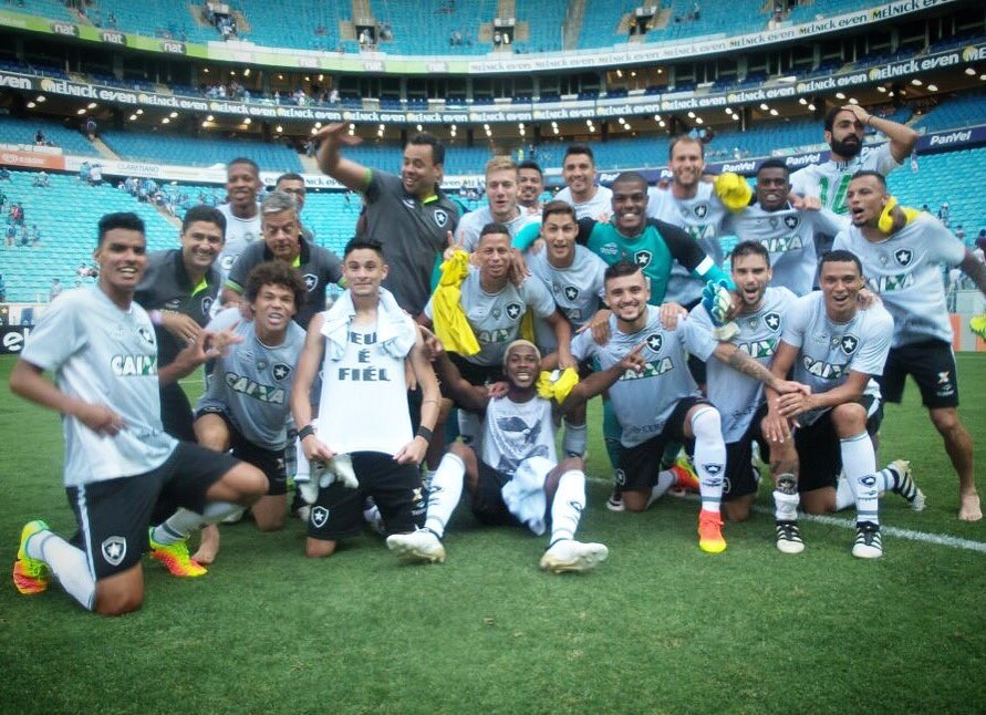 Botafogo venceu o Grêmio em Porto Alegre e se classificou para a Libertadores (Divulgação/Botafogo)