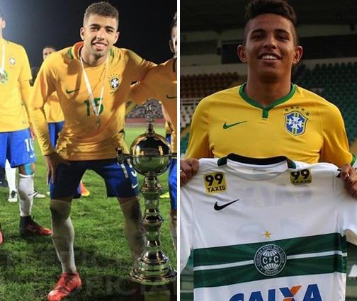 Cascardo e Dodô vão disputar posição na seleção brasileira sub-20.  (Divulgação) b6f815efae0b6