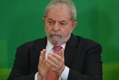 Brasília - O novo ministro da Casa Civil, Luiz Inácio Lula da Silva, durante cerimônia de posse (José Cruz/Agência Brasil)