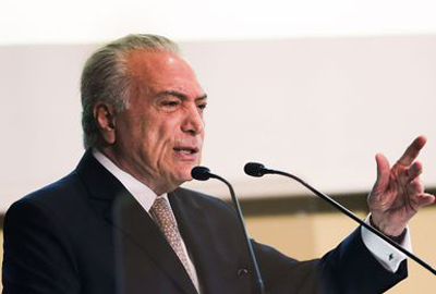 Brasília - O presidente Michel Temer abre o seminário Infraestrutura e Desenvolvimento do Brasil, no auditório da Confederação Nacional da Indústria (CNI) (José Cruz/Agência Brasil)