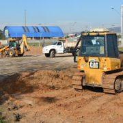 Prefeitura de Pinhais prepara área para a construção do novo Ginásio de Esportes
