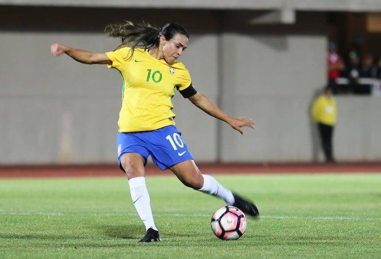 Marta destacou evolução da seleção chilena após vitória (Fernanda Coimbra  CBF) ec085a0a3087b