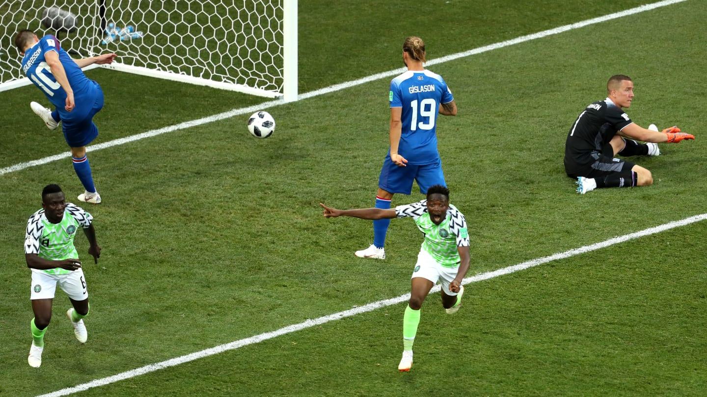 Resultado de imagem para Nigeria vence Islândia