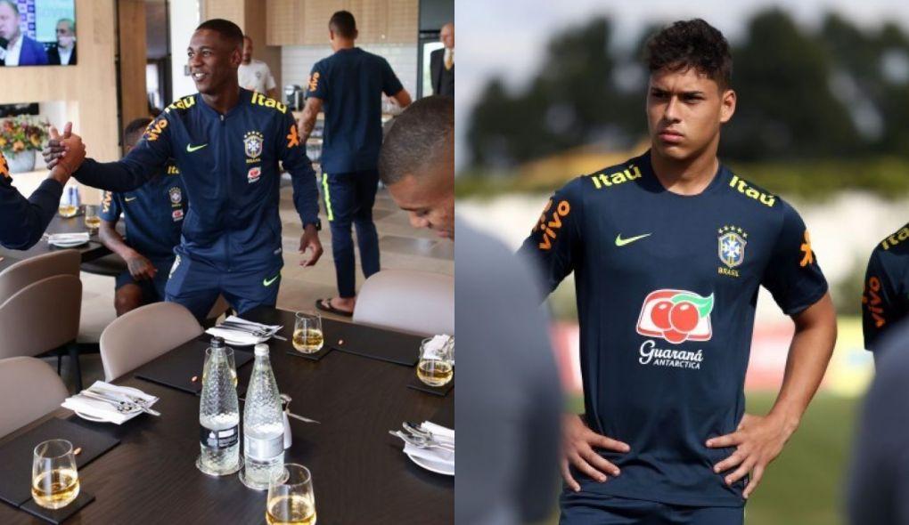 Jhonny Lucas e Lucas Halter foram convocados para a seleção brasileira.  (CBF) 74486985162da