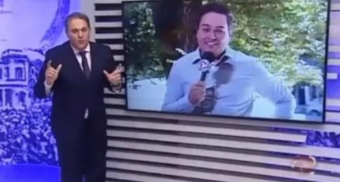 Stanley Gusman durante o 'Alterosa Alerta' Foto: Reprodução de 'Alterosa Alerta' (2019) / TV Alterosa