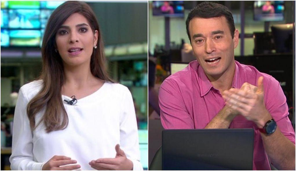 Andréia Sadi, da GloboNews, e André Rizek, do SporTV, estão ...