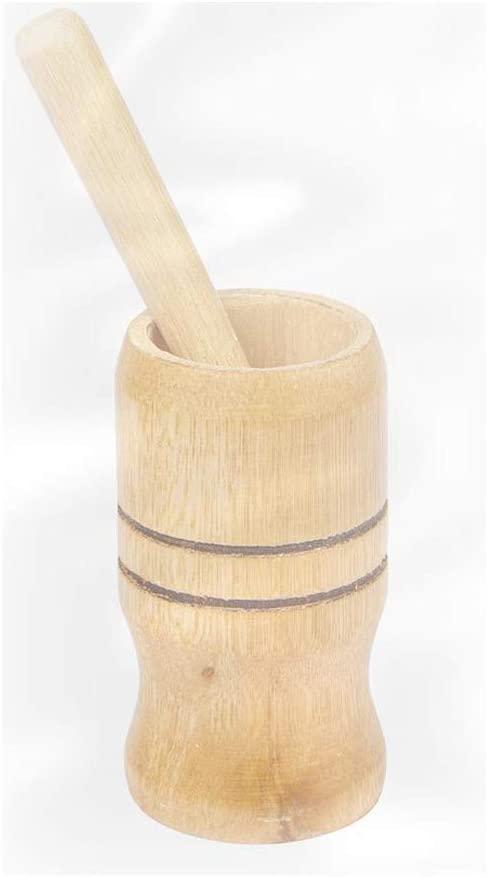 Pilão e socador de madeira para caipirinha e temperos