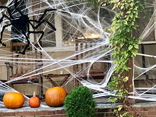 2 pacotes de teias de aranha super elásticas para o Halloween