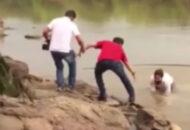 candidato caiu no leito do rio