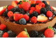 torta funcional frutas vermelhas