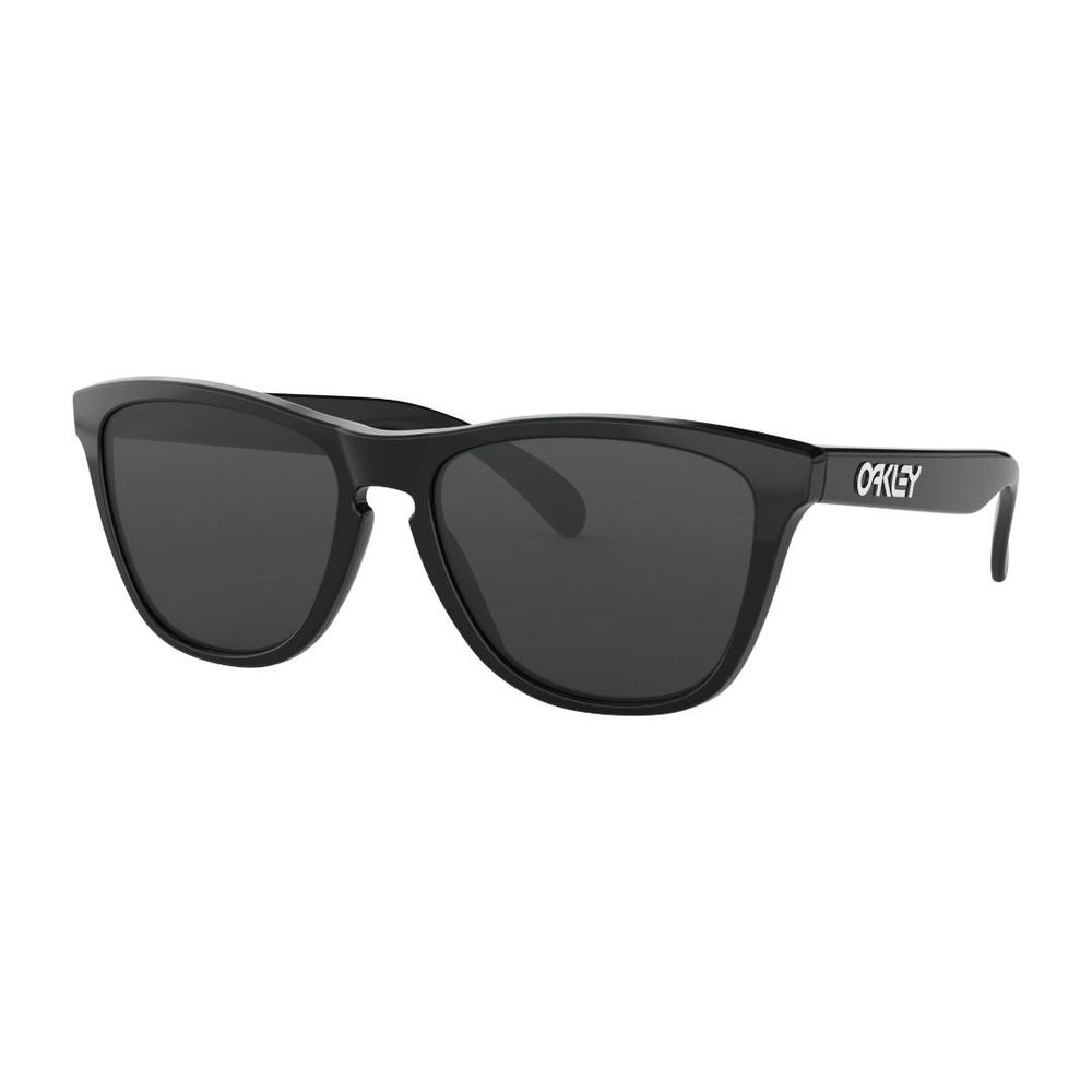 Óculos Oakley Frogskins Polished Black lentes Grey