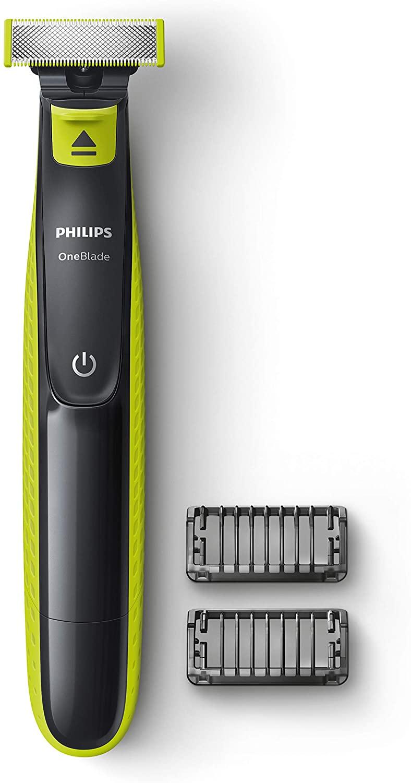 Aparador de Barba OneBlade, com 2 pentes e 1 velocidade