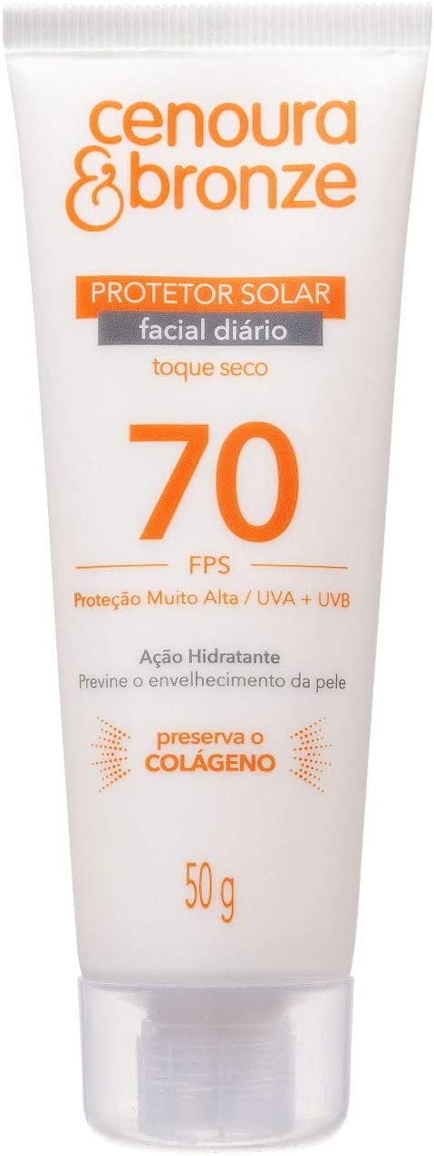 Protetor Solar Facial Cenoura e Bronze Fps70