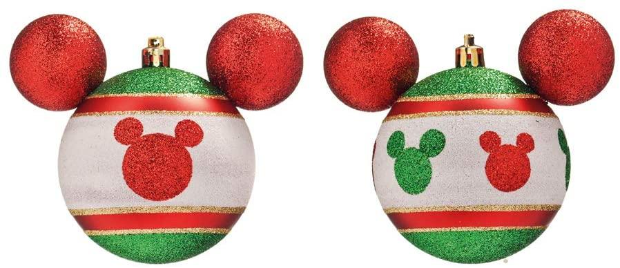 Jogo de Bolas de Natal Mickey Mouse, Verde/Vermelho