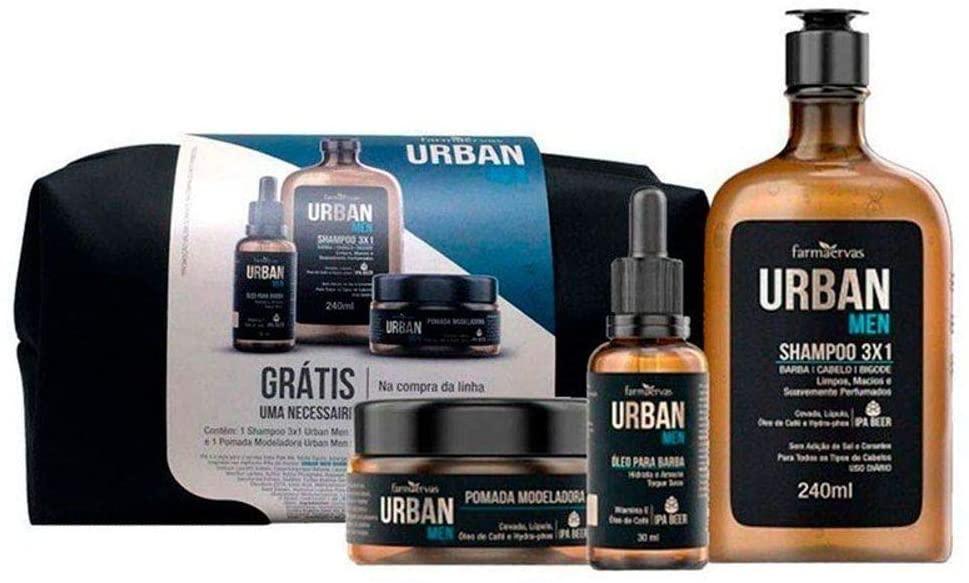 Kit Urban Shampoo + Óleo + Pomada