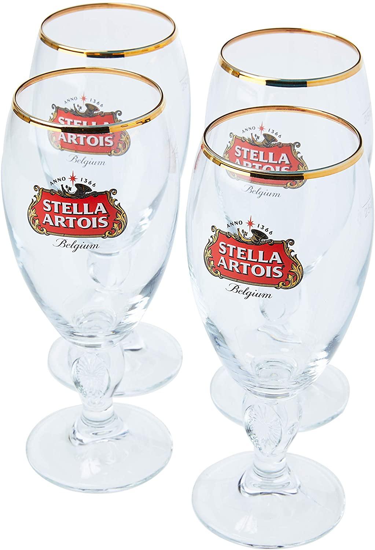 Stella Artois Box Com 4 Taças Para Cerveja