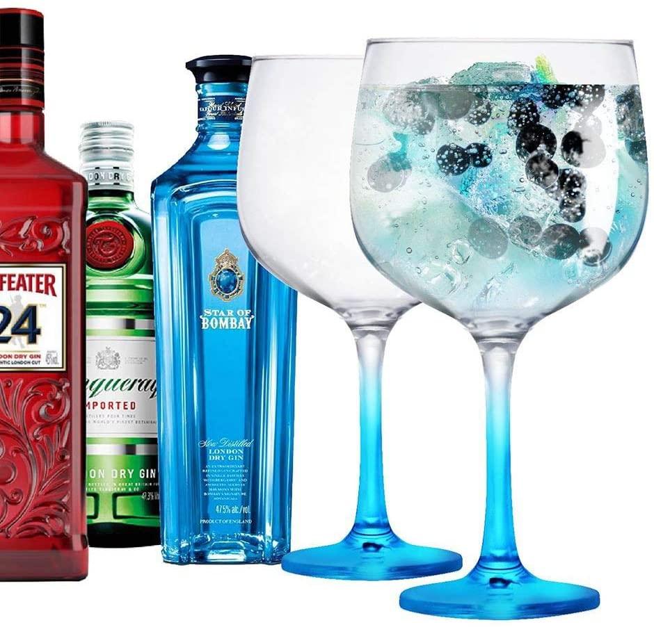 2 Taças Gin de Vidro 650ml Ideal Bombay Tanqueray