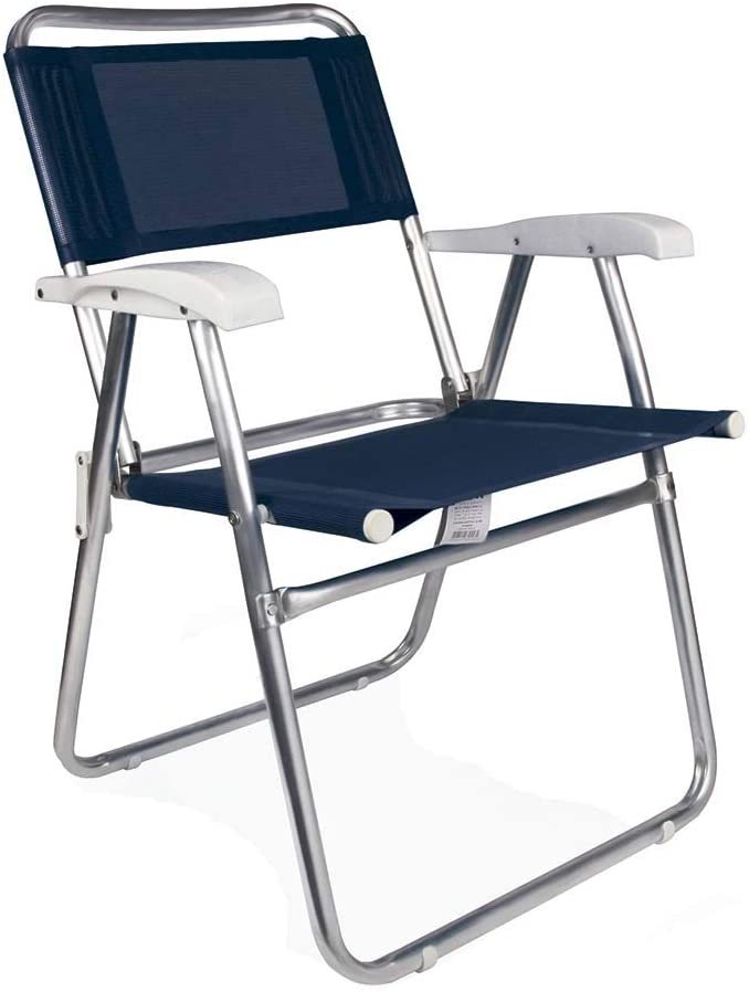 Cadeira Master Mor Alumínio Tela Sannet Azul