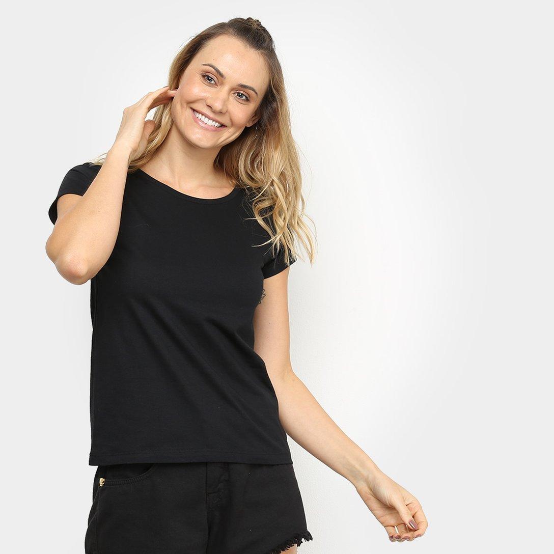 Kit 3 Camisetas Básicas Femininas