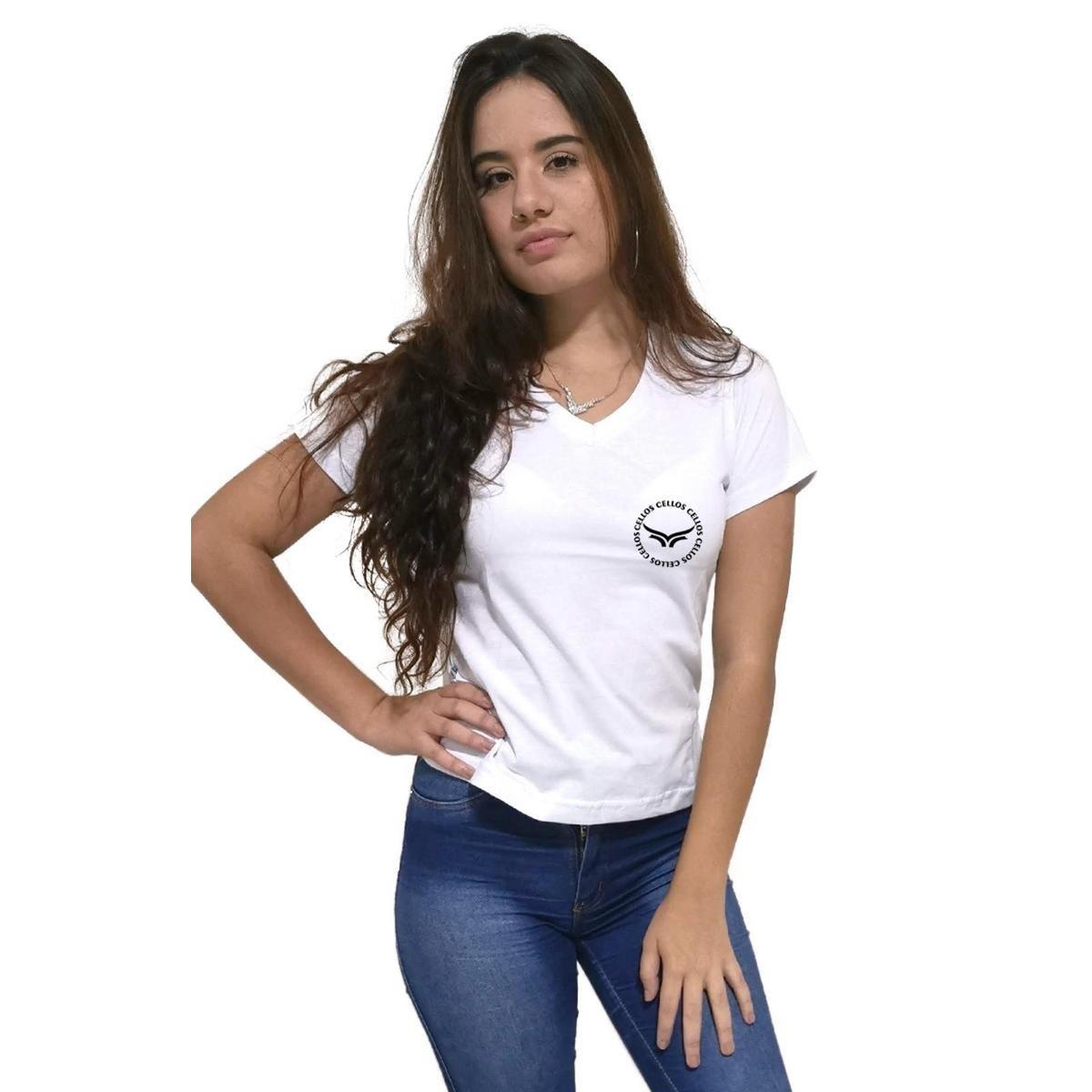 Camiseta Feminina Gola V Cellos Circle Premium