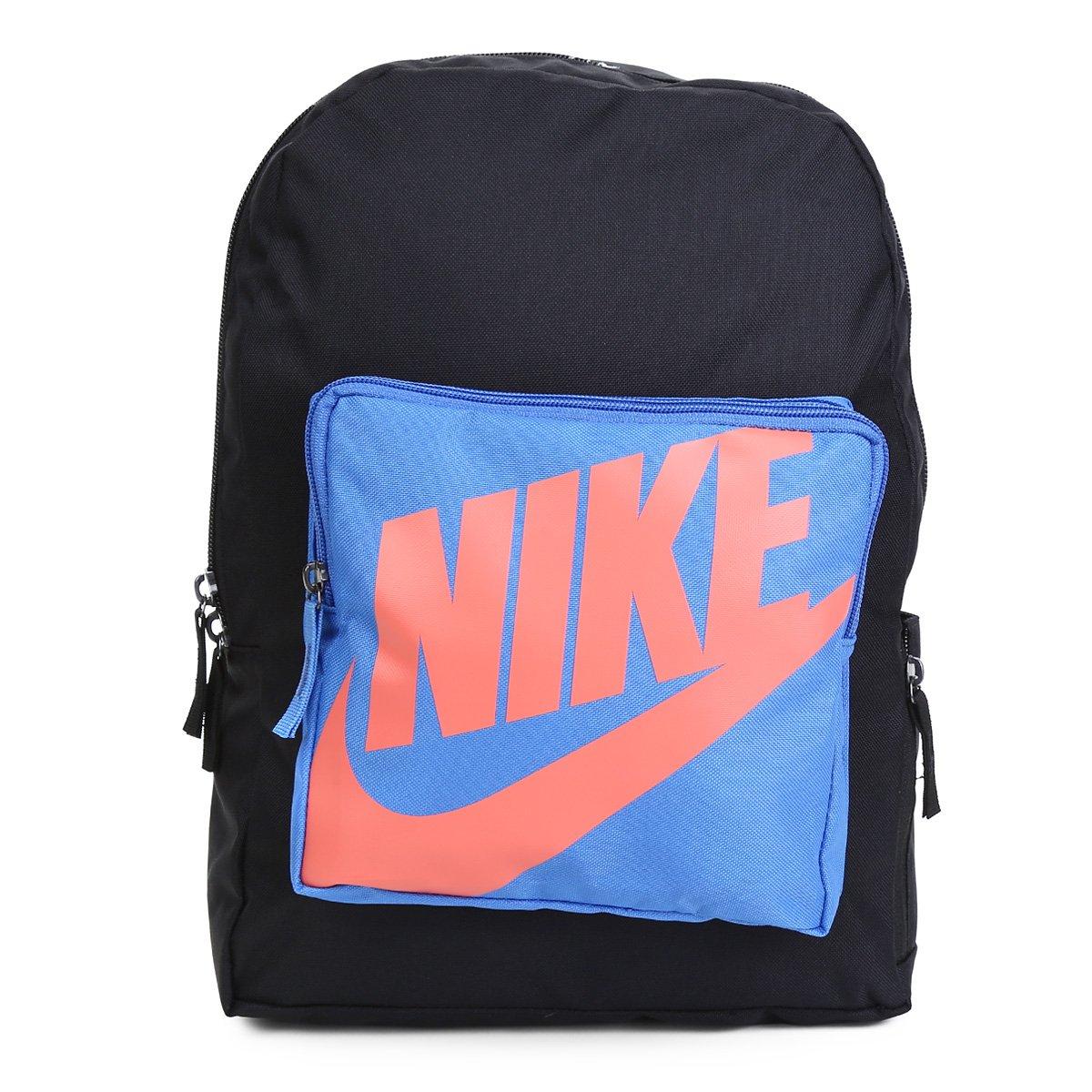 Mochila Infantil Nike Classic 16 litros - Preto e Azul
