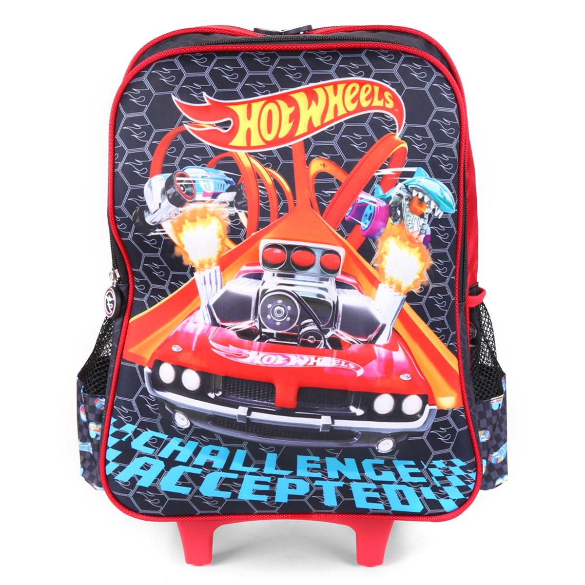 Mochila De Rodinhas Infantil Hot Wheels