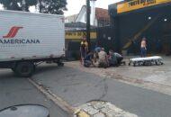 Idoso é atropelado por caminhão e está em estado grave