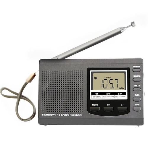 Rádio Digital Display Estéreo Portátil