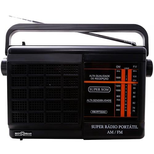 Rádio Portátil Motobras, AM/FM, Dungão