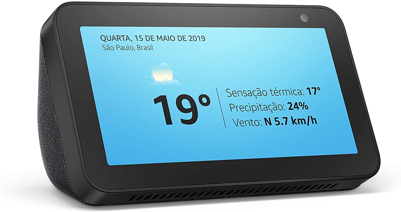 Echo Show 5 - Smart Speaker com tela de 5,5 polegadas e Alexa - Cor Preta