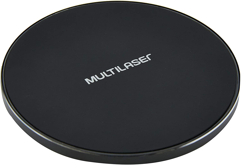 Carregador Sem Fio Wireless Preto 10W Multilaser - CB130